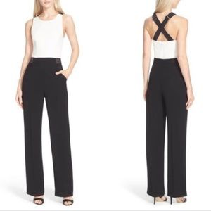 Ted Baker Black Lydya Crossover Back Jumpsuit